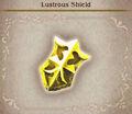 Lustorous shield
