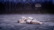 Sarah collapsed in Close Encounter of the Terra Kind in FFXV