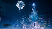 Shiva uses an ice ability from FFVII Remake.jpg