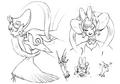 Somosan concept sketch for Final Fantasy Unlimited