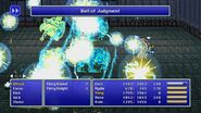 Rydia using Bolt of Judgment from FFIV Pixel Remaster
