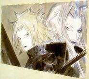 Cloud and Sephiroth Canvas