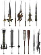 Clouds swords artwork for FFVII Remake