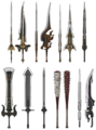 Clouds swords artwork for FFVII Remake