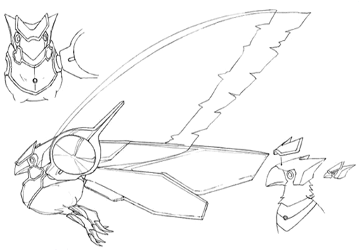 Ciel Chocobo concept lines 2 for Final Fantasy Unlimited.png