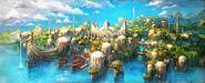 Sharlayan artwork from Final Fantasy XIV
