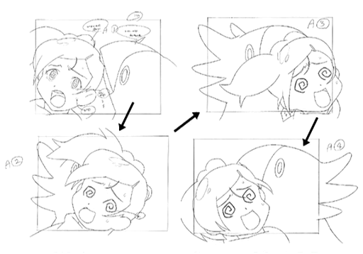 Chobi attacks Ai storyboard for Final Fantasy Unlimited.png
