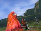 Auron attacking.