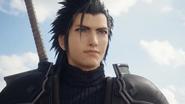Zack Fair looking at Midgar from Final Fantasy VII Remake