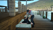 Getting a massage at Galdin Quay from FFXV