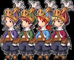 Onion Knights from Final Fantasy III.