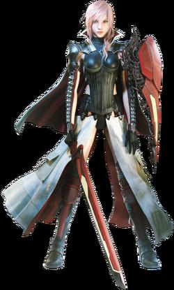 Lightning in the Equilibrium garb in Lightning Returns: Final Fantasy XIII.