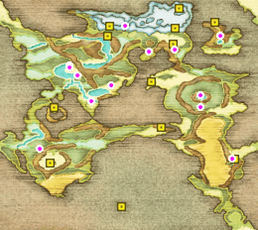 Map of Final Fantasy II
