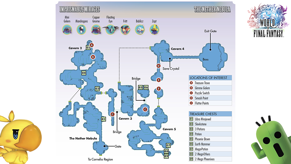 World of Final Fantasy locations