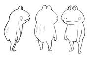Cid frog standing sketches for Final Fantasy Unlimited