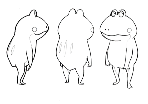 Cid frog standing sketches for Final Fantasy Unlimited.png