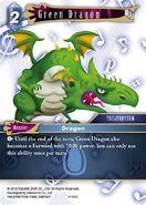Green Dragon 4-124C from FFTCG Opus
