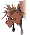 Red XIII with equipment artwork for Final Fantasy VII Remake
