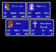 FFII NES Death Symbol