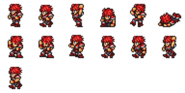 FFRK Warrior of Light Classic Red sprites