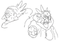 Chocobaba sketches 1 for Final Fantasy Unlimited