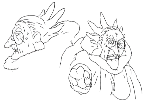 Chocobaba sketches 1 for Final Fantasy Unlimited.png