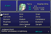 FFVI GBA Abilities Menu 2