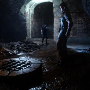 FInal Fantasy XV Noctis and Gladiolus underground.jpg