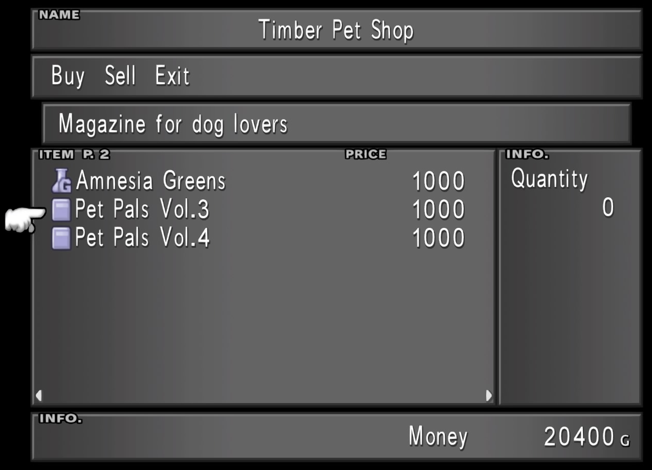 Timber Pet Shop Pet Pals from FFVIII Remastered.png