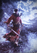 FFXIV Stormblood Samurai CG render