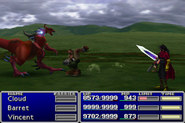 FFVII Barret Attack Non-Gun