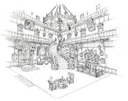 Gold Saucer Haunted Hotel FF7 Art 4