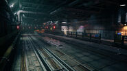 Midgar train tunnels from FFVII Remake