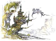 Amano FFV Dragons