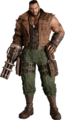 Barret Wallace from FFVII Remake promo render