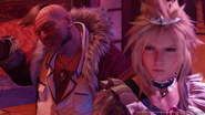 Corneo and Cloud from FFVII Remake