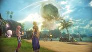 FFXIII-2 Serah & Noel looking at Cocoon