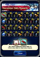 FFBE December 2016 Daily Rewards (Global)