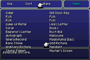 FFVIA List of Rare Items