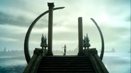 Luna on the Altar of the Tidemother in FFXV