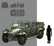 Shinra Military Utility Vehicle artwork for FFVII Remake