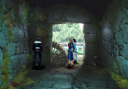 Tomb of the Unknown King turning the water wheel from FFVIII R