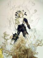 Amano Tidus and Yuna (EGM Cover Sketch)