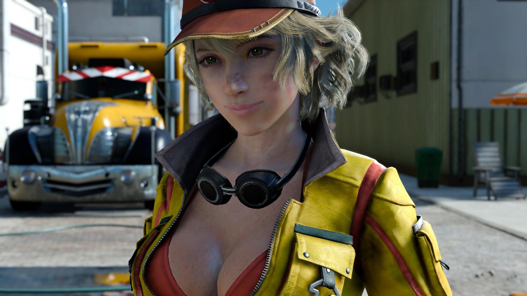 Final fantasy 15 big boobs lady Cindy Aurum Final Fantasy Wiki Fandom