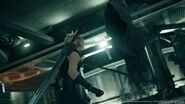 Cloud and a Whisper at the Sector 7 Pillar from FFVII Remake