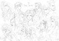 Nomura FFVI Cast Artwork