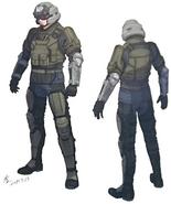 Riot Trooper artwork for FFVII Remake