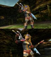 Rikku Warrior Victory Pose