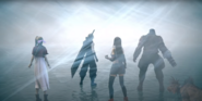 The party within the Singularity from FFVII Remake