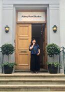 Yoko-Shimomura-at-Abbey-Road-Studios